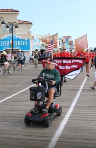 Doie in the recent Walk for Wounded on the OC Boardwalk